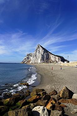 Beach of Gibraltar, British overseas territory