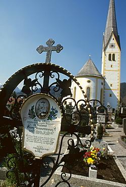 Grave of the legendary poacher Georg Jennerwein in Schliersee, Lake Schliersee, Upper Bavaria, Bavaria, Germany