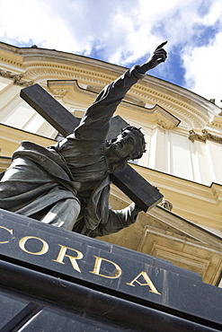 Statue of Christ at the Church of the Holy Cross, Warsaw, Poland, Europe