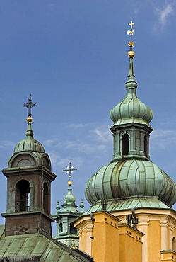 Church Steeples of St. John¥s Cathedral, Warsaw, Poland, Europe