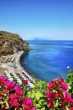 Spiaggia bianca, Canneto, Island of Lipari, Aeolian islands, Sicily, Italy