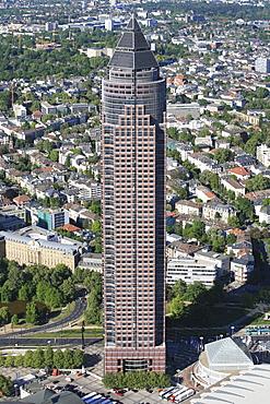 Messeturm, architect Helmut Jahn, Westend quarter, Frankfurt am Main, Hesse, Germany