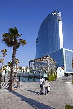 W-Hotel, Barceloneta, Barcelona, Catalonia, Spain