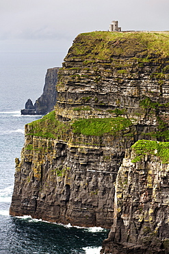 Cliffs of Moher and O'Brien's Tower, County Clare, Ireland