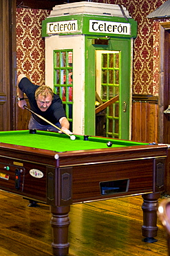 Pool player in a pub in Killarney, Killarney, County Kerry, Ireland