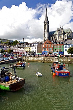 View at boats at harbour, Cobh, County Cork, Ireland