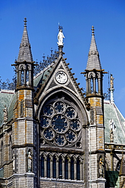 Detail of facade of the Cobh Cathedral, Cobh, County Cork, Ireland