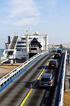 Ferry to Puttgarden, Fehmarn, Baltic sea, Schleswig-Holstein, Germany