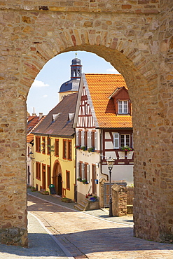 Kirchheimbolanden, Town-gate, Roter Turm, Old City, Nordpfalz, Rhineland-Palatinate, Germany, Europe