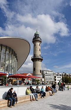 Restaurant Tea Pot, Lighthouse, Warnemuende, hanseatic town Rostock, Mecklenburg-Western Pomerania, Germany