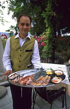 Seafood platter in a restaurant in Izola, Slovenia
