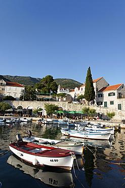Boats in harbor, Bol, Brac, Split-Dalmatia county, Croatia