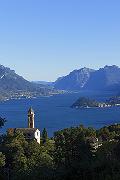Plesio, view to Bellagio, Lake Como, Lombardy, Italy