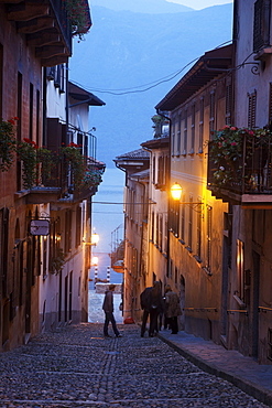 Alley, Cannobio, Lago Maggiore, Piedmont, Italy