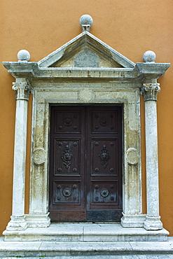 Doorway of the church of Saint Simeon, Zadar, Croatia, Europe