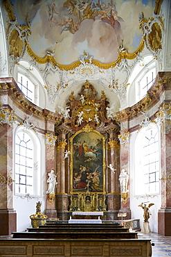 Anastasiakapelle at Benediktbeuern monastery, former Benedictine abbey, Benediktbeuern, Bavaria, Germany, Europe