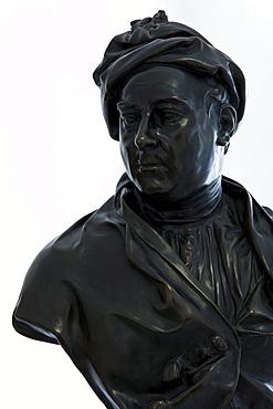 Haendel bust in the Haendel house, Halle an der Saale, Saxony Anhalt, Germany, Europe