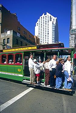 California San Francisco cable car