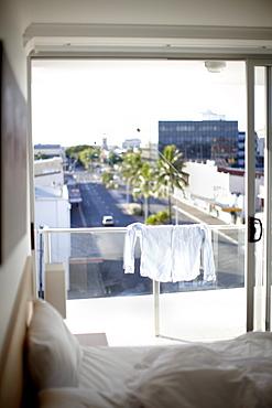 View on Victoria Parade, from Edge Apartment Hotel, city center Rockhampton, Rockhampton, Queensland, Australia