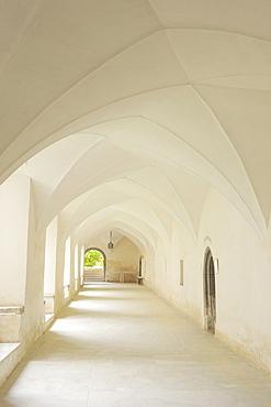 Cloister in convent Millstatt, Millstatt, lake Millstaetter See, Carinthia, Austria, Europe