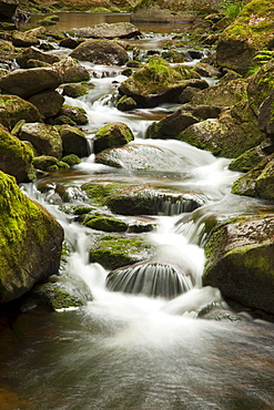 Ilse falls, Ilse valley, Heinrich-Heine hiking trail, near Ilsenburg, Harz mountains, Saxony-Anhalt, Germany
