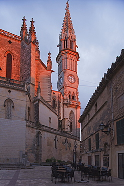 Tower, church, Dolors de Nostra Senyora, neo-Gothic, Manacor, Mallorca, Balearic Islands, Spain, Europe