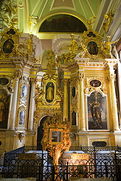 Altar in Peter and Paul Cathedral at Peter and Paul Fortress, St. Petersburg, Russia