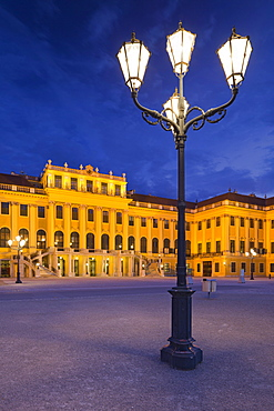 Street light at Schonbrunn palace, Hietzing, 13th district, Vienna, Austria