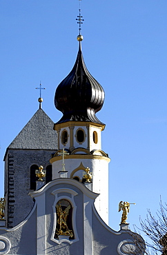 Church in Innichen, Puster Valley, Alto Adige, South Tyrol, Italy