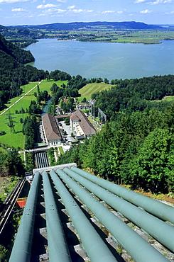 Walchensee hydropower plant, Walchensee Lake, Bavaria, Germany