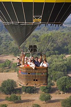 Mallorca Balloons Warsteiner Hot Air Balloon Basket, Near Manacor, Mallorca, Balearic Islands, Spain