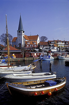 Boats at harbour, Ronne, Bornholm, Denmark, Europe