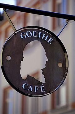 Goethe Cafe, Weimar, Thueringen Deutschland, Europa