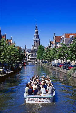 Boat trip through the old town of Alkmaar, Netherlands