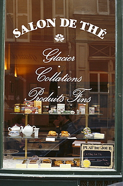 Shop window of the Salon de The, Paris, France