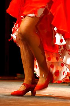 Flamenco dancer, World Flamenco Fair, Seville, Andalusia, Spain