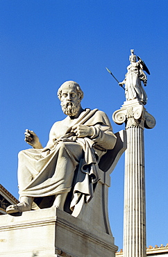 Statue of Plato at the Academy, Athens, Greece