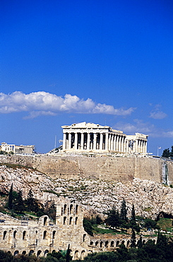 Parthenon and Acropolis, View from Philopappos Hill Athens, Greece