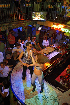 Dancers in Mango's Tropical Cafe, Ocean Drive, South Beach, Miami, Florida, USA, America