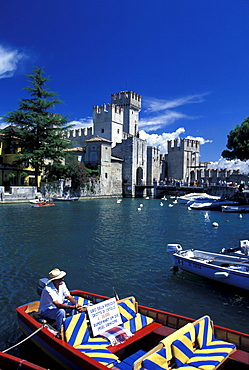 Scaglian Castle, Lazise, Gardasee, Verona, Italien