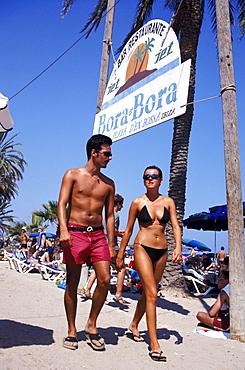 Bora-Bora Disco Beach, Platja d¥en Bossa, Ibiza, Balearic Islands, Spain