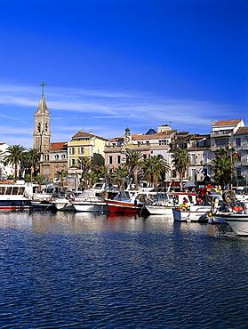 Hafen, Sanary-sur-Mer, Cote d'Azur, Var, Provence, France