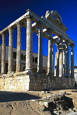 Templo de Diana, Roman Temple, Merida, Badajoz, Extremadura, Spanien