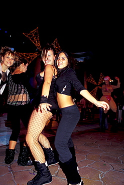 Two young women, Nightlife, Carnival, Gran Canaria, Canary Islands, Spain