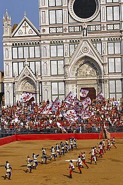 Calcio Storico Fiorentino, Basilica of Santa Croce, Piazza Santa Croce, Florence, Tuscany, Italy