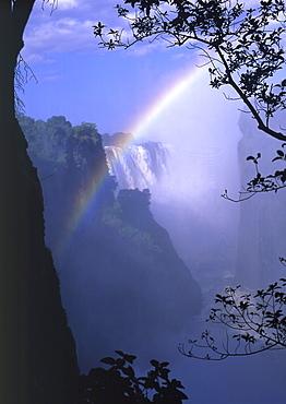 Rainbow at the Victoria Falls. Tanzania, Africa