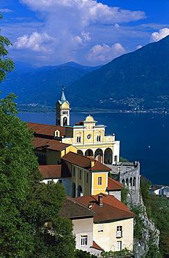 Pilgrimage Church Madonna del Sasso, Locarno, Lago Maggiore Tessin, Switzerland