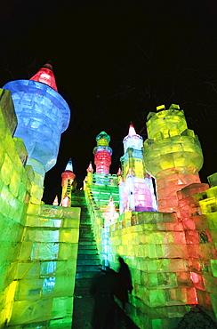 Ice sculpture festival, Harbin Ice Lantern Show, Harbin, China