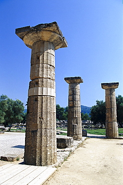 Temple of Hera, Olympia, Peloponnese, Greece