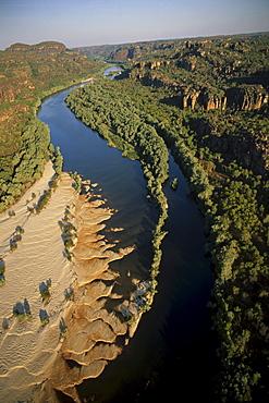 Aerial view, East Alligator River, Kakadu NP and Arnhemland, Northern Territory, Australia
